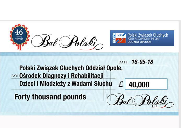 46 Bal Polski Przekazanie Czeku – Uniwersytet Opolski