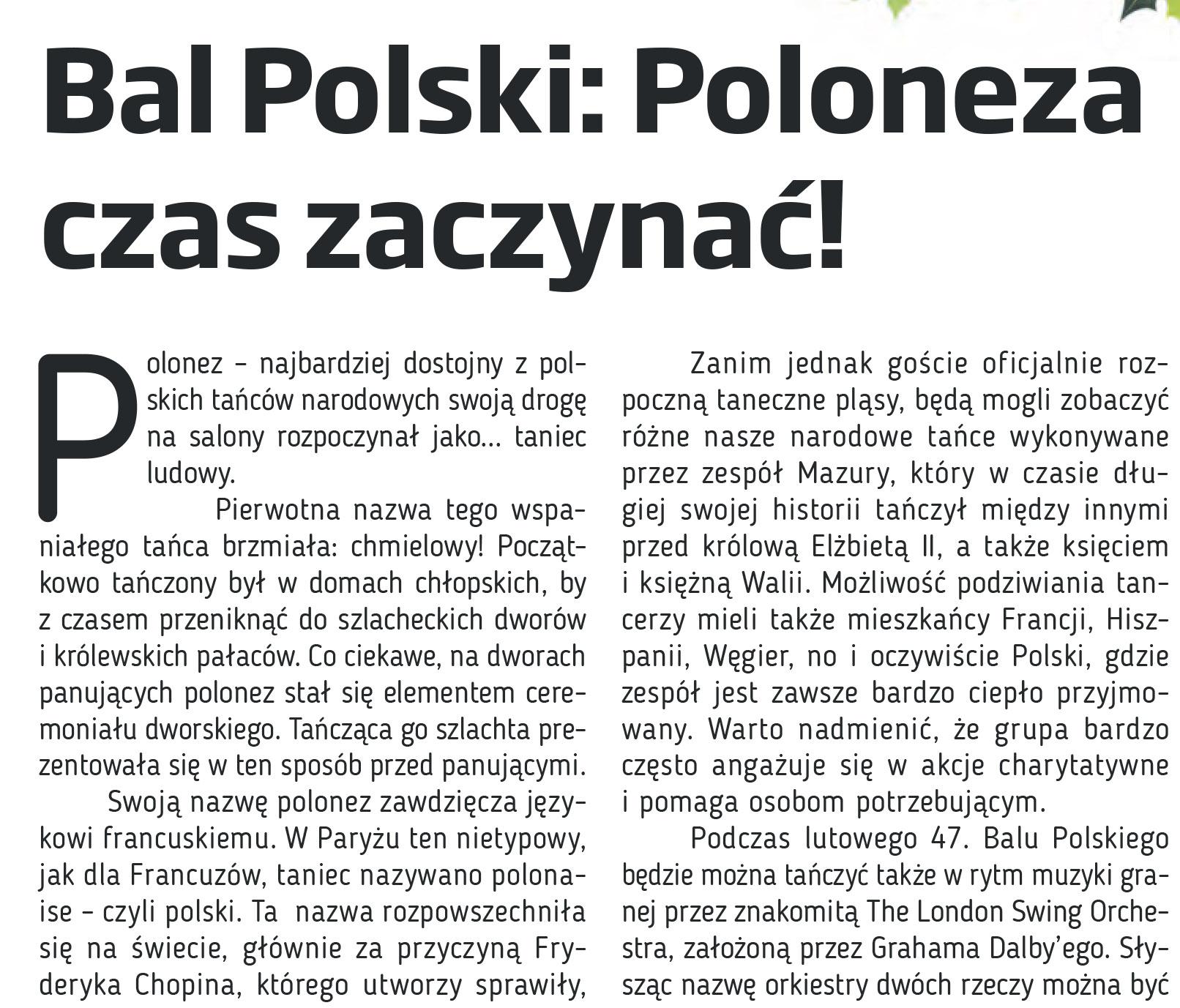 Bal Polski w Coolturze: Poloneza czas zaczynac!
