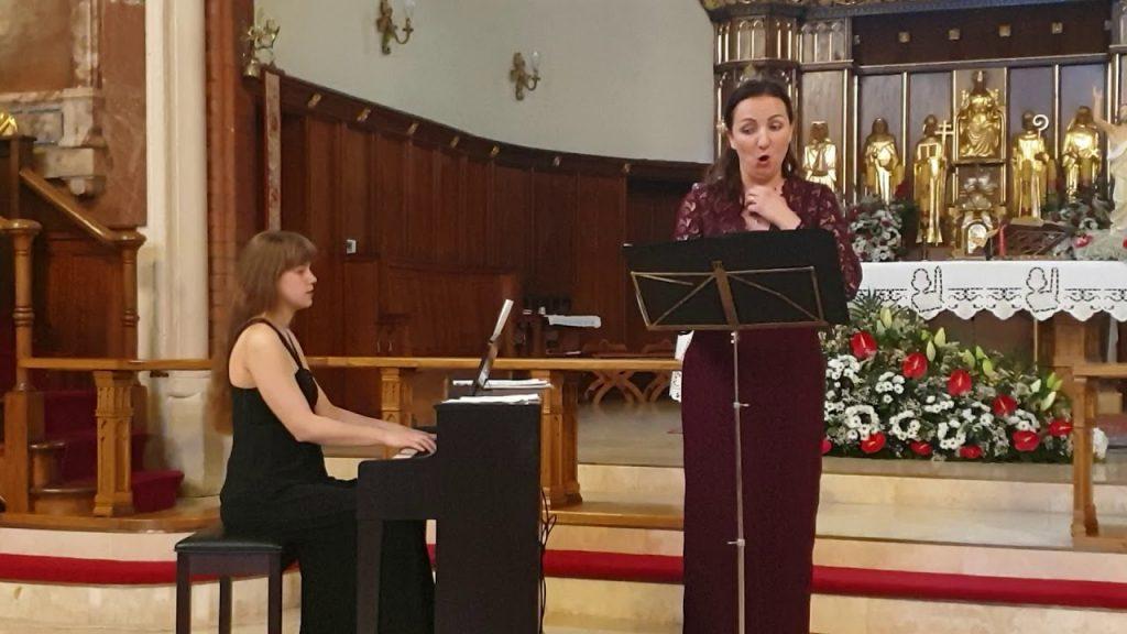 Katyrzyna Mędlarska i Anna Szałucka, arie Moniuszki i Karłowicza, Parafia Balham 2019